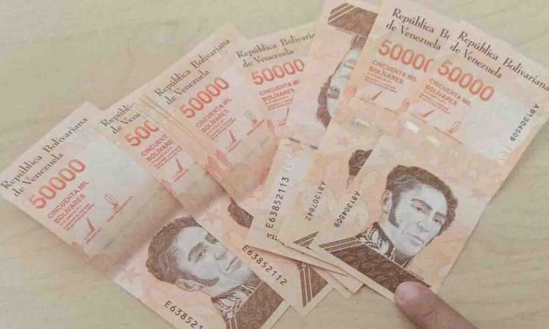 billetes de 50 mil bolívares