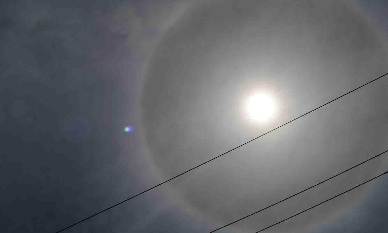 halo solar en Maracaibo