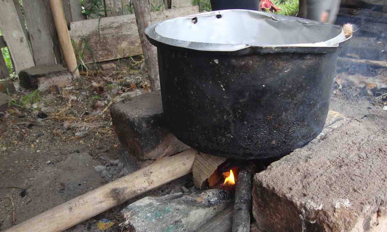 cocinar en leña